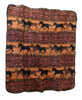 Horse Adventure Throw Blanket Pumpkin