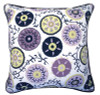 Adrianna Corded Medallion Ikat Damask Pillow Back