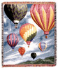 Hot Air Balloons in the Sky Throw Blanket by Simply Home (50x60 Inches)