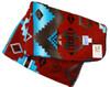 Indian Fleece Throw Blanket Rust by Rockmount Ranch Wear (60x72 Inches)