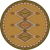 "Ancestry/Green Round Rug by American Dakota (Approx. 7'7"")"