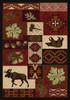 """Bear Creek Lodge/Red 4x5 Rug by American Dakota (3'10"""" x 5'4"""")"""