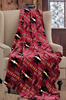 Native Burgundy Cashmere Fleece Blanket by Phyllis Dobbs
