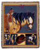 Horse Of A Different Color Tapestry Throw Blanket
