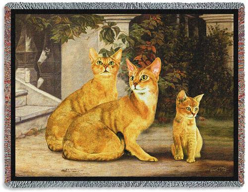 Abysinian Cat Tapestry Throw
