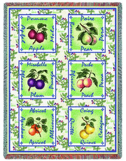 Alsacian Fruit Tapestry Throw PC-1033-T
