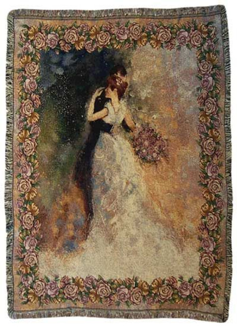 Always and Forever Wedding Tapestry Throw