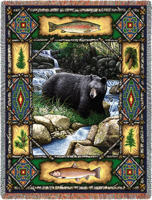 Bear Lodge Tapestry Throw PC1572-T