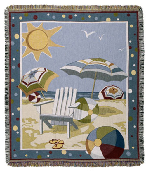 Beach Days Tapestry Throw