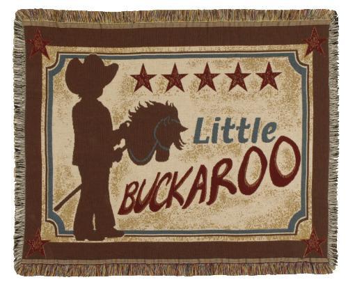 Little Buckaroo Tapestry Throw