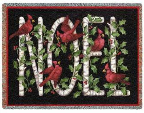Cardinal Noel Tapestry Afghan or Throw PC 2441-T