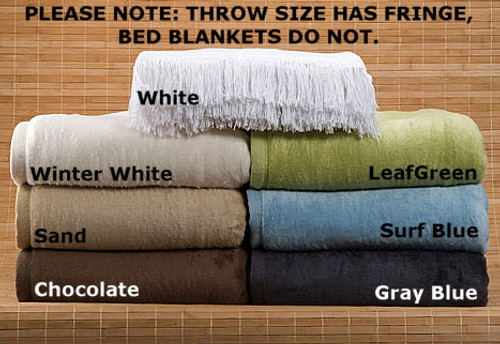 Cashmere Soft Bamboo and Cotton Throw Leaf Green