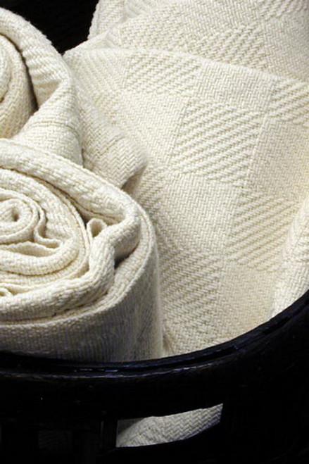 Natural Cotton Checkerboard Queen Bed Blanket BM052