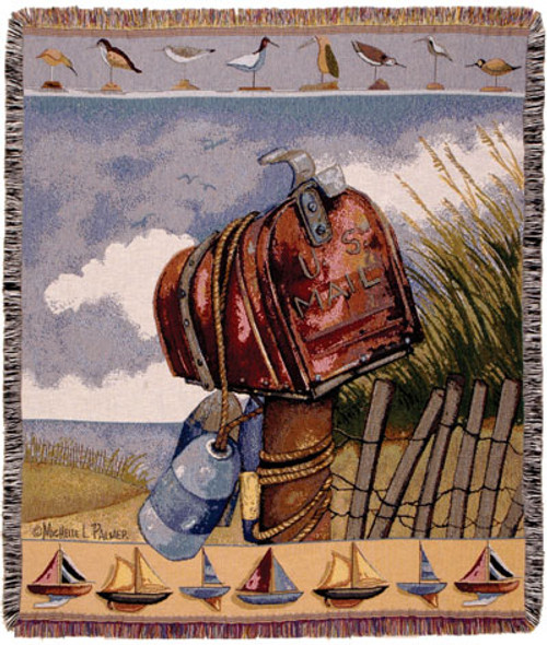Coastal Mail Tapestry Throw
