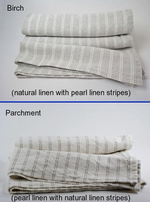 Pinstripe 50% Cotton 50% Linen Blanket Twin