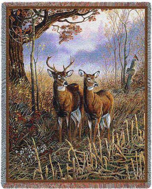 Country Treasures Deer Tapestry Throw PC3750-T