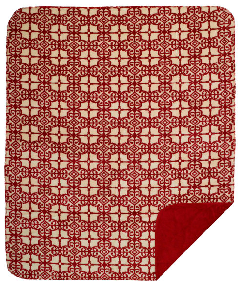 Denali Moroccan/Garnet Microplush Pillow or Blanket