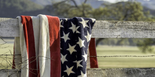 Stars/Stripes #404 50x60 Inch Throw Blanket
