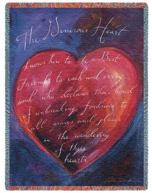 Generous Heart Tapestry Throw PC-2396-T