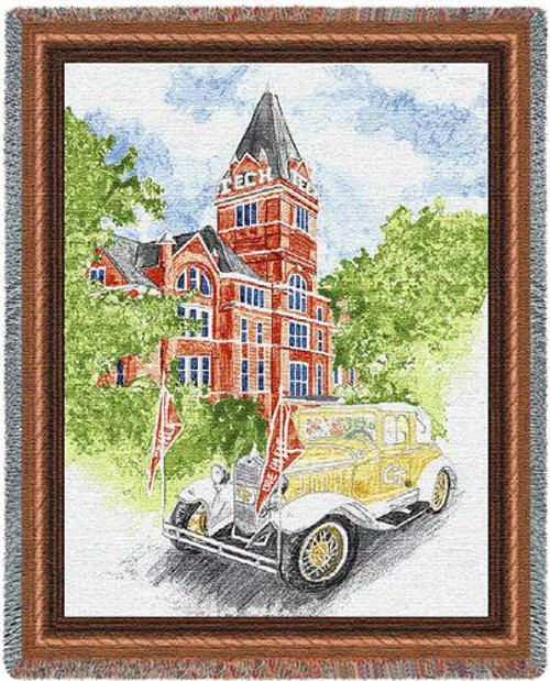 Georgia Tech Collage and Wreck Tapestry Throw PC-4910-T