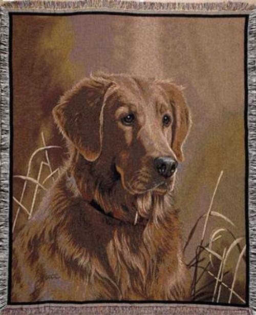Golden Retriever Portrait Tapestry Throw WT-TP819