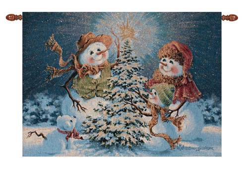 Snow Family Lighted Wall Hanging