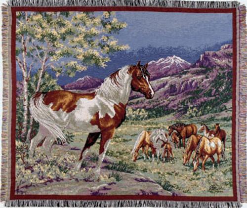 Mustangs Tapestry Throw Blanket