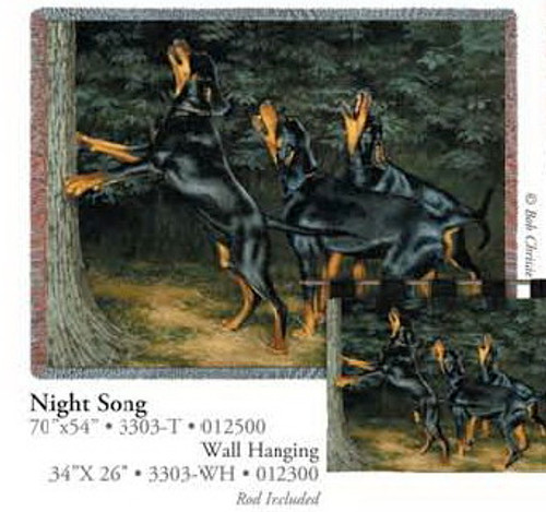 Night Song Tapestry Throw OR Wall Hanging PC3303