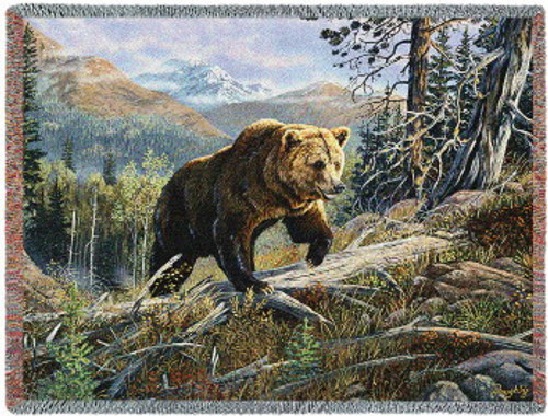 Over the Top Bear Tapestry Throw PC-4724-T
