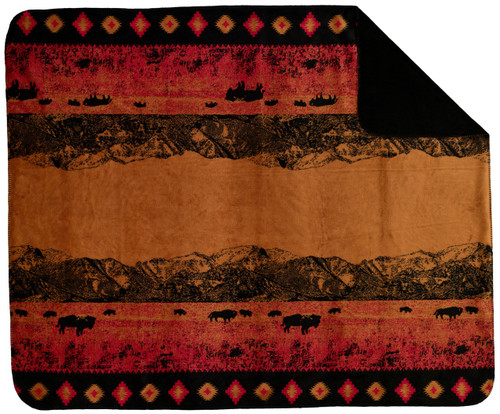 Denali Roaming Buffalo Throw