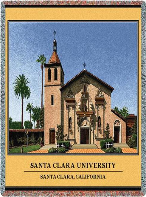 Santa Clara Univeristy Stadium Throw Blanket (54x70 Inches)