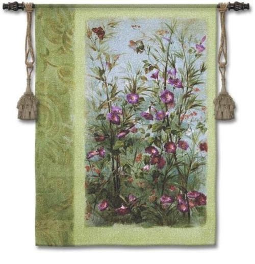 A Wild Garden Tapestry Wall Hanging by Fabrice De Villeneuve