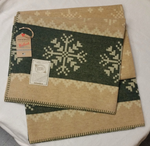 Woolrich Vintage American Coverlet Dusty Olive