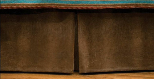 Alligator Faux Leather Fabric Bedskirt
