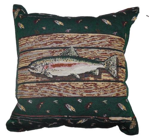 Gone Fishin' Tapestry Pillow PTP290
