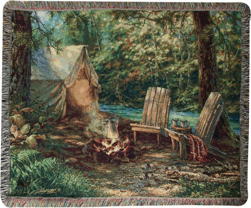 Autumn Retreat Tapestry Throw by Dona Gelsinger ATAUTR