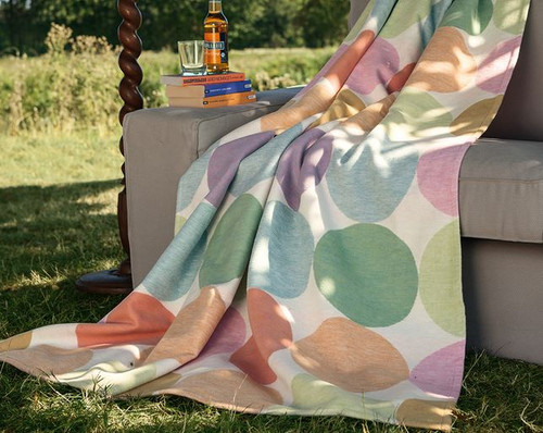 Ibena Cotton Pure Colored Candy Blanket