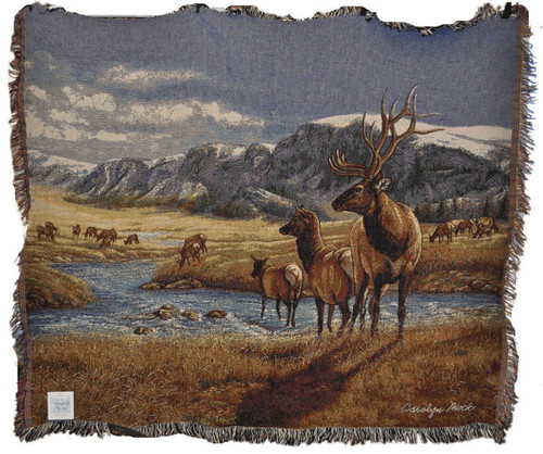 A Distant Call Elk Throw