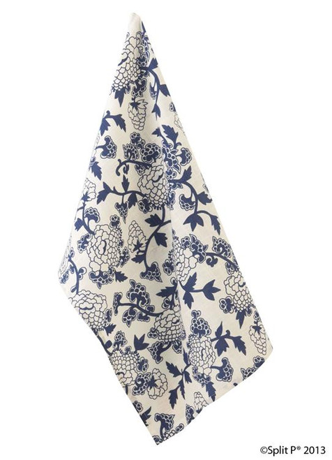 Mandarin Lapis Dishtowel - Floral 2405-010