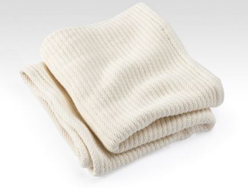 Organic Cotton Bedford Cord Baby Blanket Natural