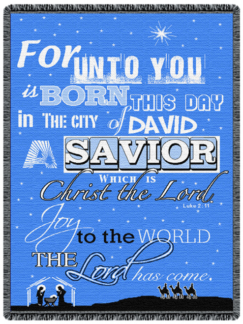 A Savior Is Born 2 Layer Throw Blanket (48x68 Inches)