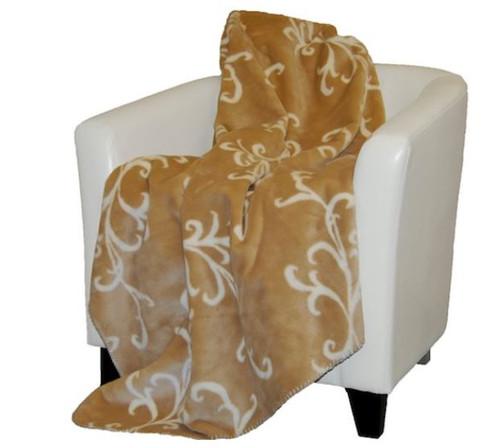 Cashew Swirl/Cashew #903 50x60 Inch Throw Blanket