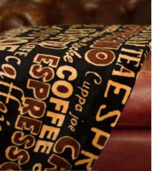 Coffee Break/Sable #909 60x70 Inch Throw Blanket