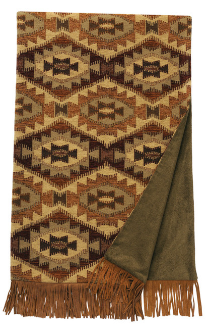 Wooded River Stone Mill Throw Blanket