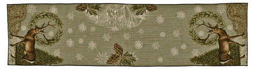 Winter Woodland Deer Table Runner by Simply Home (12x35 Inches)