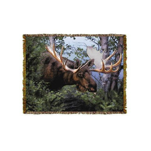 Canadian Moose Throw Blanket by Mill Street Design (48x60 Inches)