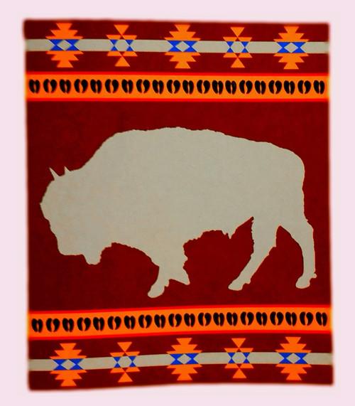 Cabin Fever Buffalo Fever Blanket