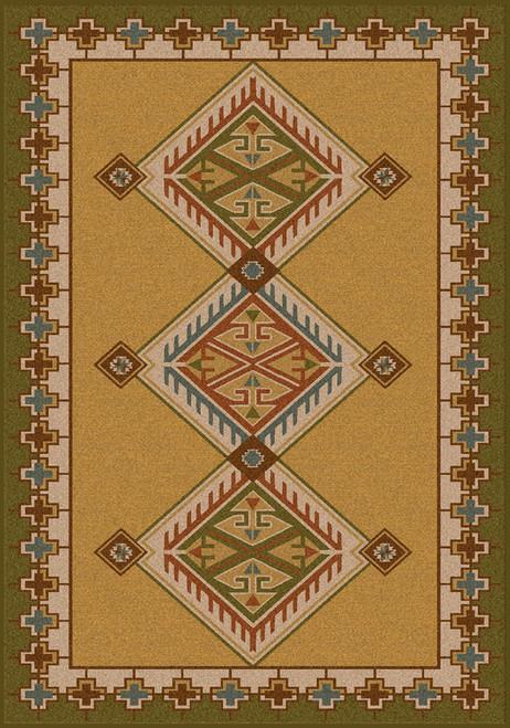 "Ancestry/Green 8x11 Rug by American Dakota (7'8"" x 10'9"")"