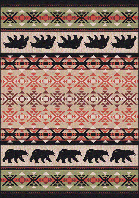 "Cozy Bears/Burnt Red 5x8 Rug by American Dakota (5'4"" x 7'8"")"