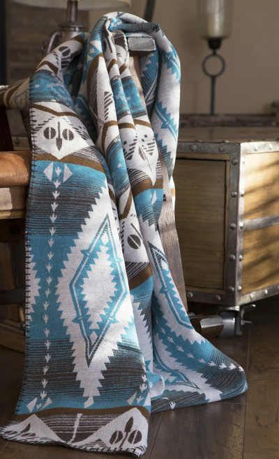 Turquoise Earth Southwest Design Throw Blanket